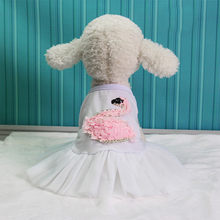 Fashion Pet Cat Dog Skirt Summer 2019 Swan Printed Lace Patchwork Costumes Pet Skirt Summer Clothes For Chihuahua Falda Para Per(China)