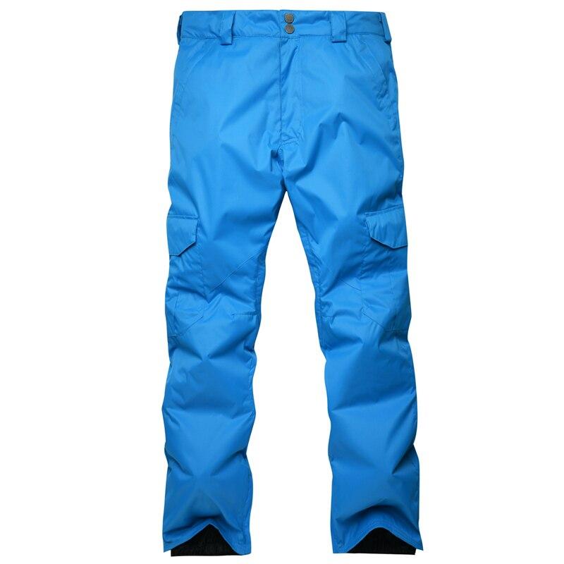 Nouveauté hiver pantalon de Ski pour hommes en Nylon et Spandex remplissage de tissu respectueux de l'environnement PP coton couleur snowboard pantalon taille S-XL - 3