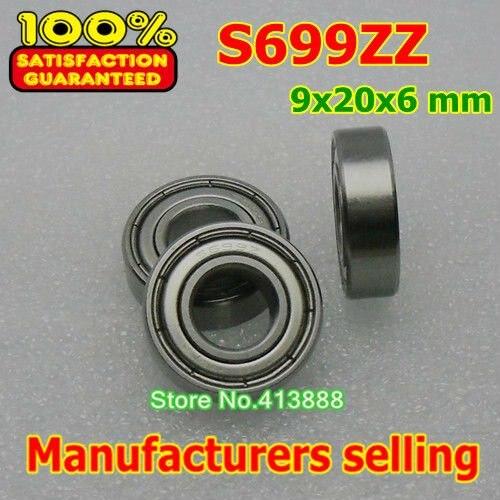 Высокое качество нержавеющая сталь подшипника SS699ZZ S699-2Z 699 S699 Z ZZ S699Z S699ZZ 619/9 L-2090ZZ 9*20*6 мм 440C материал
