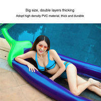 Giant Eggplant Floats Swimming Floating Row Inflatable Pool Float Toys PVC Bed Swimming Raft For Adult Kids Swim Accessory