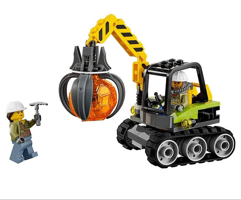 Briques 02004 Kits Construction Blocs Lp Volcanique Lego 60123 Hélicoptère Avec De Modèles Expédition Jouets Compatibles City cAj354LqR