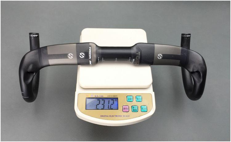 TOSEEK Carbon Matte UD Rennrad Rennrad Drop Bar Lenker 31,8mm-400/420 - Radfahren - Foto 6