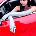 De Las Mujeres del verano Protector Solar Spandex Guantes Largo de Codo Guantes de Conducir de Protección UV Contra La Radiación de la Moda Femenina de Color Rojo Negro AGB532