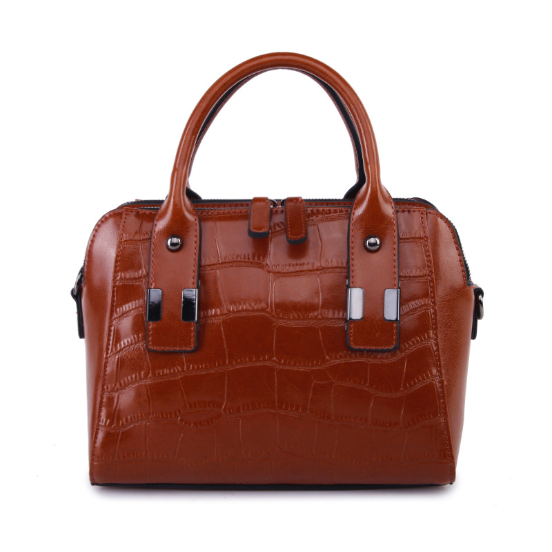 ФОТО Crocodile Textured-Leather Designer Bags Famous Brand Women Bags 2017 Ladies Summer Handbag High Quality With Document Pocket