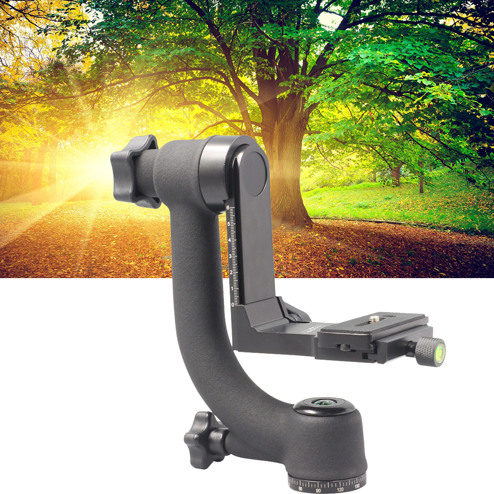 INSEESI Professional Camera Telephoto Lens Panoramic 360 Degree Gimbal Tripod Head 1/4 Screw for QZSD Q999 Q666 Zomei Z688 Z818 new professional aluminum gimbal tripod head for heavy telephoto lens dslr camera 360 panoramic swivel tripod head up to 22lbs