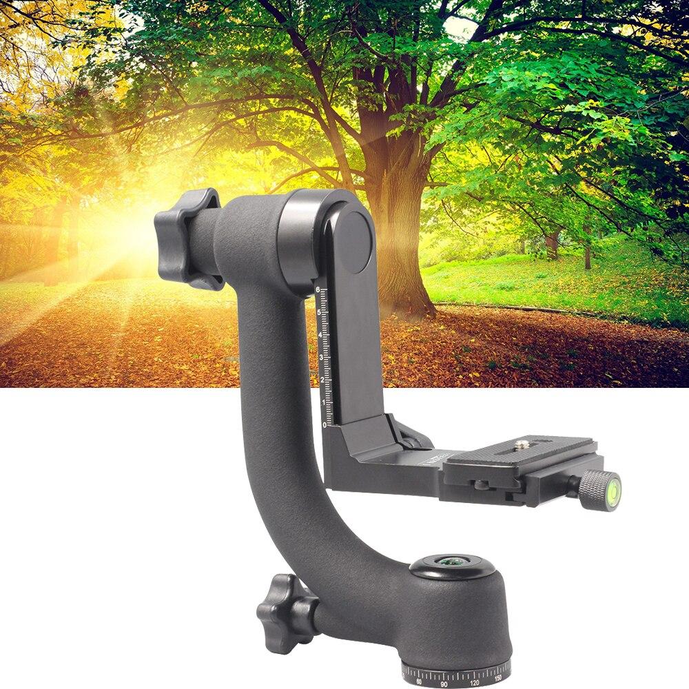 bilder für INSEESI Professionelle Kamera Teleobjektiv Panorama 360 Grad Gimbal Stativkopf 1/4 Schraube für QZSD Q999 Q666 Zomei Z688 Z818