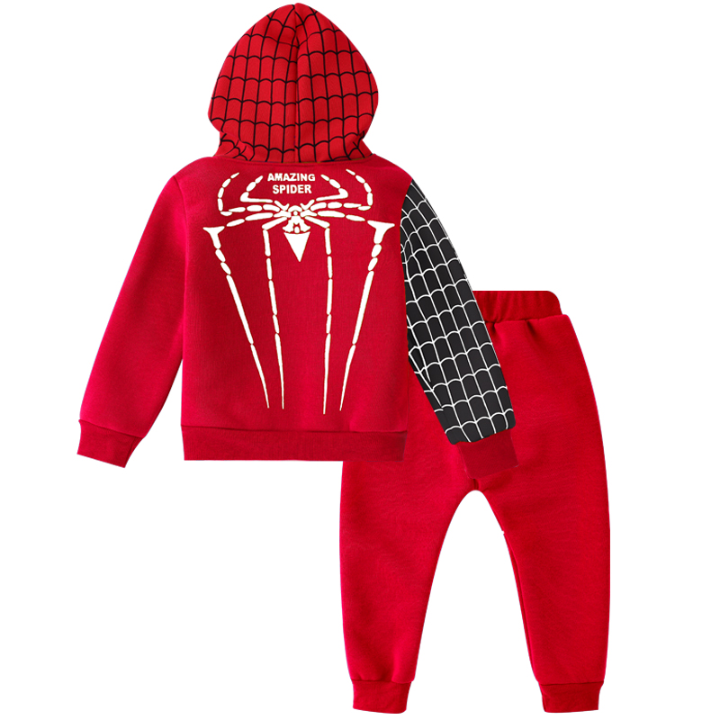 Children Clothing Autumn Winter Toddler Boys Clothes Sets Spiderman Costume Kids Clothes For Boys Clothing Suit 3 4 5 6 7 Year 17