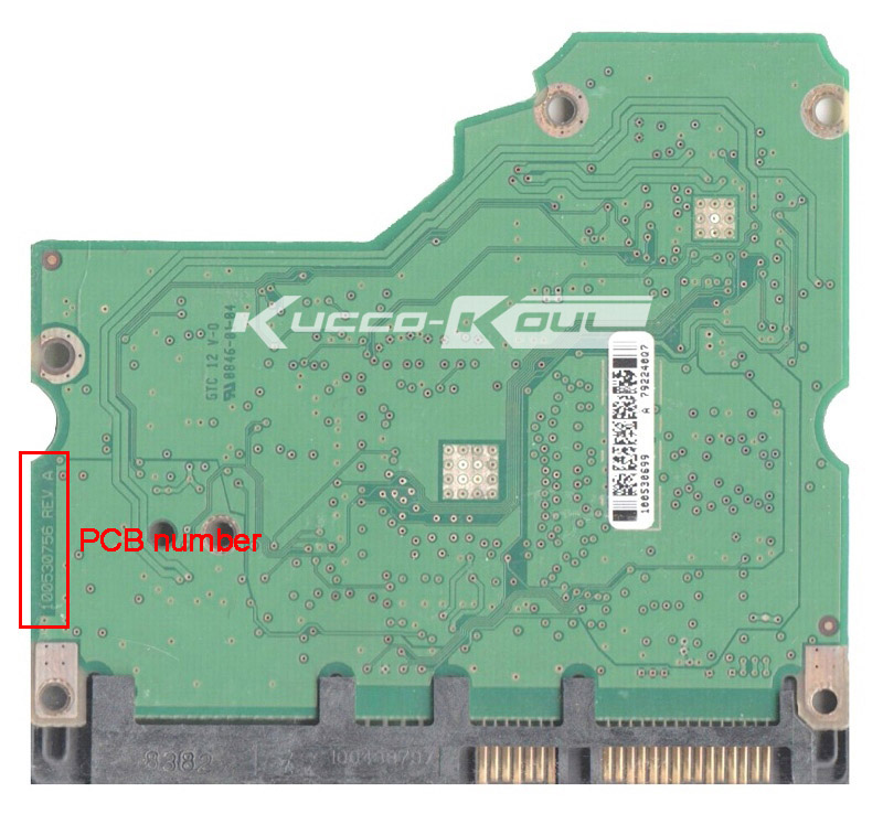 hard drive parts PCB logic board printed circuit board 100530756 for Seagate 3.5 SATA hdd data recovery hard drive repair