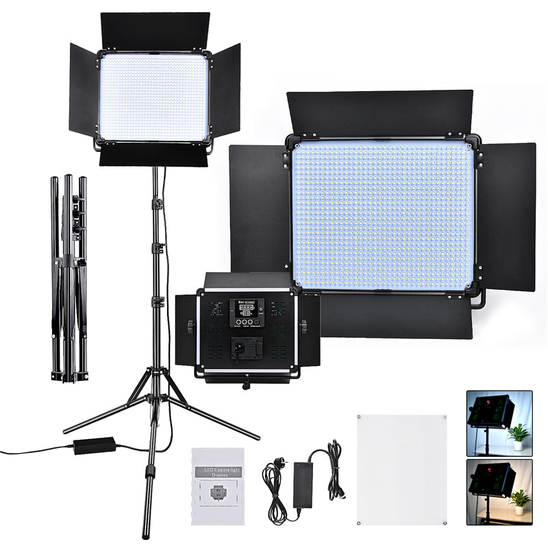Yidoblo D-1080 Led Photographic Lighting Dimmable 3200-5500K Camera Photo Studio Phone Photography Ring Light Lamp&Tripod Stand brand yidoblo fd 480ii white pink black photo ring light led video lamp photographic studio lighting 5500k 480led lights