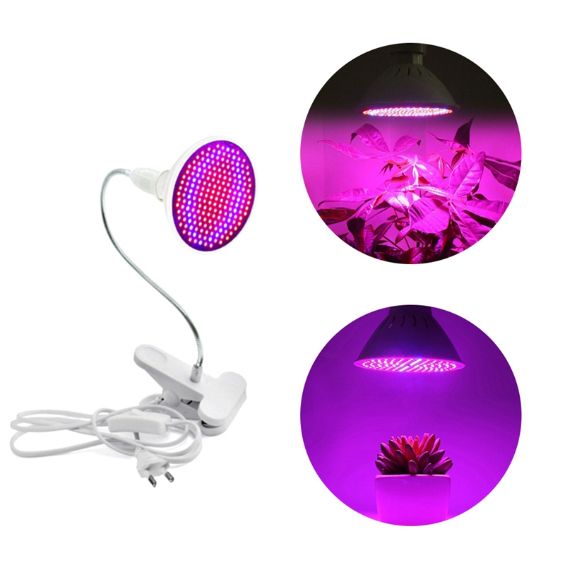 200 LED Grow Light Hydroponic Lighting With Clip Plants Lamps For Flower Hydroponics System Indoor Garden Greenhouse EU/US Plug