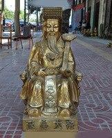 Свадебные украшения китайский даосизм мифическая фигурка из меди верховное божество даосизм sovereign нефритовый император Бог Статуя