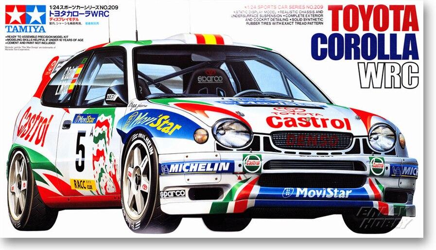 1/24 voiture modèle TOYOTA Kolla WRC rallye course 24209