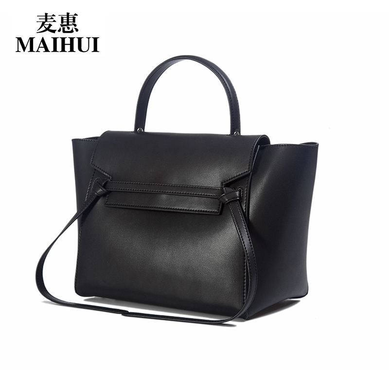 Maihui designer handbags high quality real cow genuine leather bags for women 2017 new fashion shoulder bags trapeze tote bag women leather handbags high quality real cow genuine leather bags new fashion chinese style floral shoulder bag casual tote bag