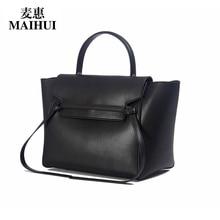 Maihui designer-handtaschen hohe qualität echtes kuh echtes leder taschen für frauen 2017 neue mode umhängetaschen trapeze tasche