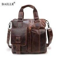 BAILLR Brand New Fashion Men S Handbag Men Business Briefcase Genuine Leather High Quality Tote Bag