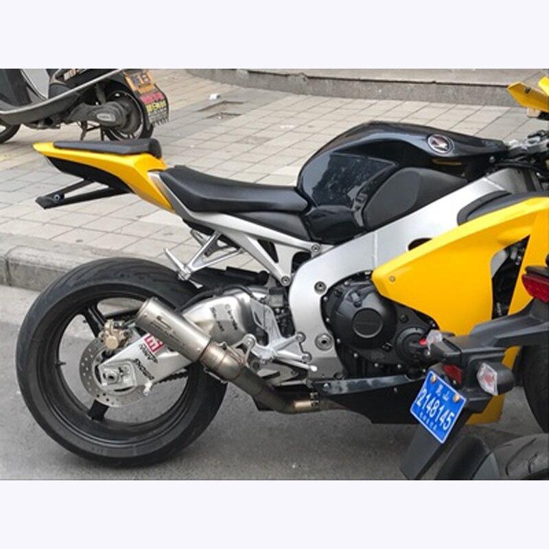 CBR1000RR Motorcycle Slip On Muffler Set For Exhaust Escape Honda CBR1000 RR 2008-2012 Full Middle Link Pipe System Carbon Steel