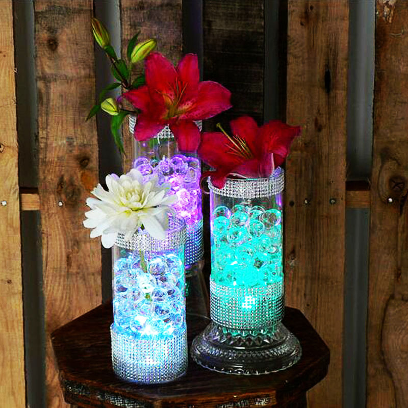 50pcs Wedding Centerpiece Under Vase Lighting 3cm Mini Led