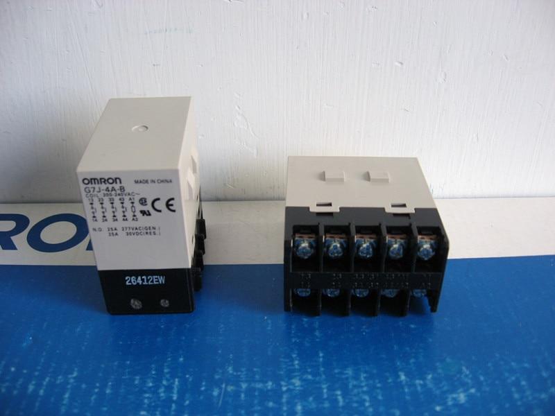 цена на [ZOB] New original authentic OMRON Omron solid state relays G7J-4A-B AC220-240V --2PCS/LOT
