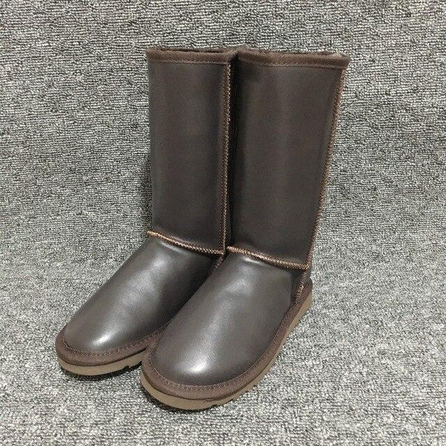 74f3a411c Лидер продаж; австралийские женские зимние ботинки; водонепроницаемые  теплые сапоги из лакированной кожи; уличные высокие сапоги; б