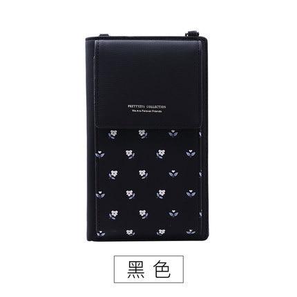 Новинка, Женский кошелек на каждый день, брендовый кошелек для мобильного телефона, большие держатели для карт, кошелек, сумочка, клатч, сумка на ремне через плечо - Цвет: black2