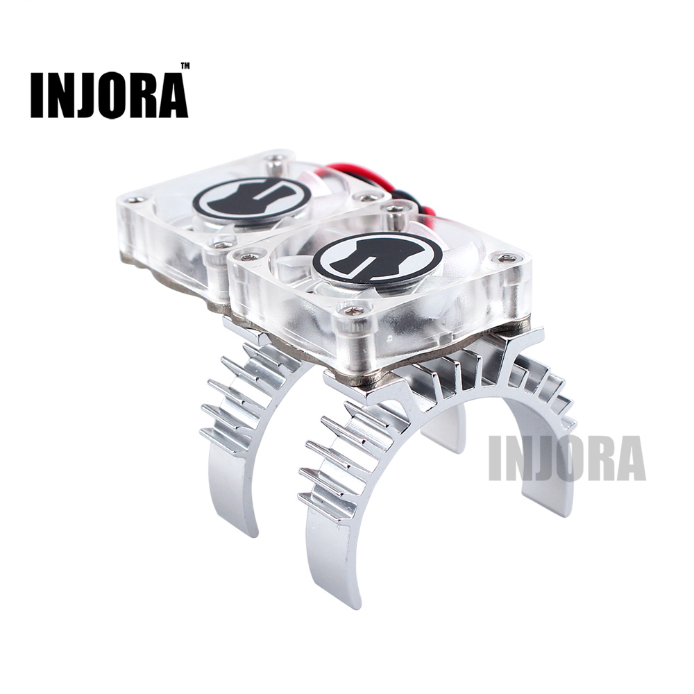 RC Car Motor Heat Sink and Cooling Fan with Thermal Receptor for 1/10 RC Crawler TRAXXAS TRX-4 flower ridge north bridge heat sink aluminum zero total compatible with fan noise