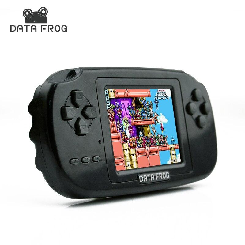 NEW HOT Clássico Da Infância Jogo Com 168 Jogos 8-Bit PVP Portátil Handheld Game Console de 3.0 Polegada