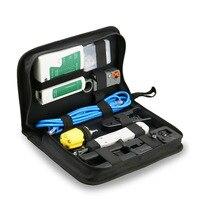 Rj45 Crimping Tool Kit For CAT5/CAT6, Professional Computer Maintenacnce Lan Cable Tester Network Repair Tool Set