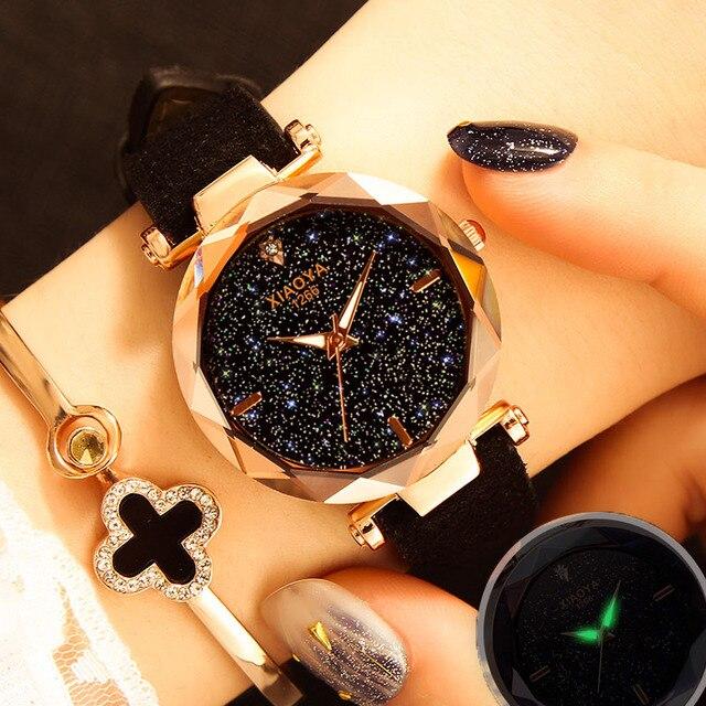 Watches Women 2018 Luxury Brand Zegarek Damski Starry Sky Laides Wrist Watch For