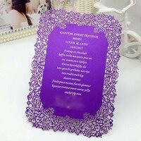 10set Elegant Flower Laser Cut Wedding Invitation Cards Universal Birthday Party Adult Ceremony Invitations