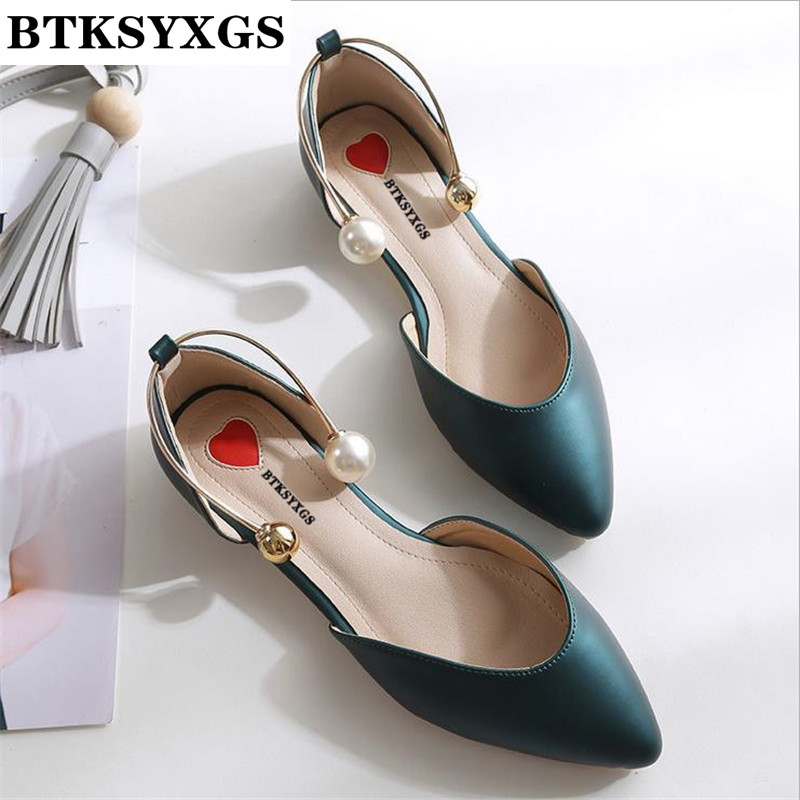 New 2017 summer autumn Women's flats shoes sandals leather fashion pointed toe pearl comfortable women casual flat heel shoes black red 2015 full grain leather women s summer comfortable shoes pointed toe rhinestone fashion flat heel shoes for women