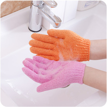 Random Color One Pair Shower Bath Gloves Exfoliating Wash Skin Spa Massage Scrub Body Scrubber Glove easy spa pomegranate almond body scrub