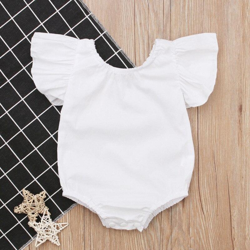 Best 2018 White Romper Summer Romper Baby Girl Stuff Newborn Girl 1St Birthday Outfits Baby Girl Summer Clothes