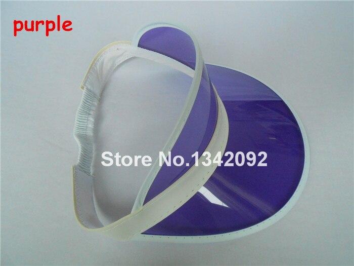 DHL/EMS 48 шт./лот неоновый Защита от солнца козырек пик Кепки ясно Пластик летняя шляпа Rave фестиваль нарядное платье Liquor& Poker повязка на голову - Цвет: purple