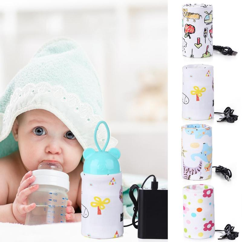 Baby Feeding Milk Bottle Warmer USB Insulation Bag Portable Travel Cup Warmer Thermal Bag Bottle Holder Nursing Bottle Heater