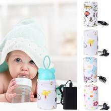 Baby Feeding Milk Bottle Warmer USB Insulation Bag Portable Travel Cup Warmer Thermal Bag Bottle Holder Nursing Bottle Heater(China)