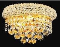 Современные хрустальные бра Chrome бра прикроватной тумбочке Гостиная Настенный светильник лампа Гарантировано 100% Бесплатная доставка!