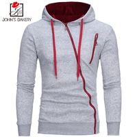 2017 New Fashion Hoodies Brand Men Diagonal Zipper Sweatshirt Men S Sportswear Hoody Cardigan Stitching Autumn