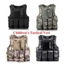 子供屋外 CS 撮影保護ギアベスト子供軍事戦闘訓練キャンプ狩猟多機能戦術的なチョッキ