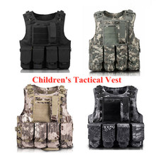Children Outdoor CS Shooting Protection Gear Vest Kid Military Combat Training Camping Hunting Multi function Tactical Waistcoat