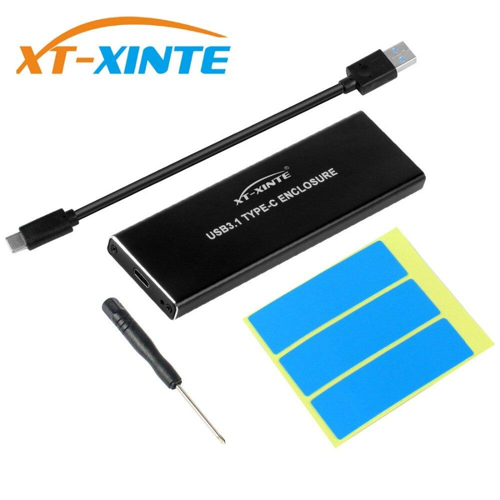 En aluminium USB3.1 à M.2 SSD NVME Hdd NGFF PCIE à Type-C Connecteur Disque Dur Cas JMS583 HDD Boîte pour PC De Bureau