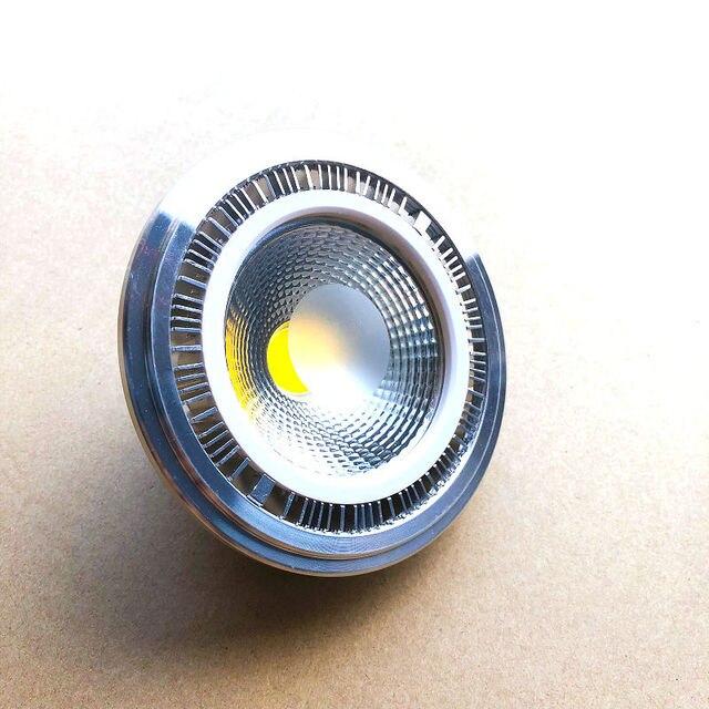 Kısılabilir 15w COB LED G53 AR111 lamba AC85V 265V GU10 AR111 spot sıcak beyaz soğuk beyaz Ücretsiz Kargo