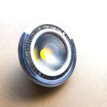 Regulable, 15w, COB LED G53 AR111, lámpara AC85V 265V GU10 AR111, foco Blanco cálido, blanco frío, envío gratis