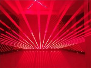 1600MW Moving Head RED Laser Array R638NM-300mW Rough SpotX8PCS Stage Party Disco KTV Bar Club Theatre Studio Iluminacion Light