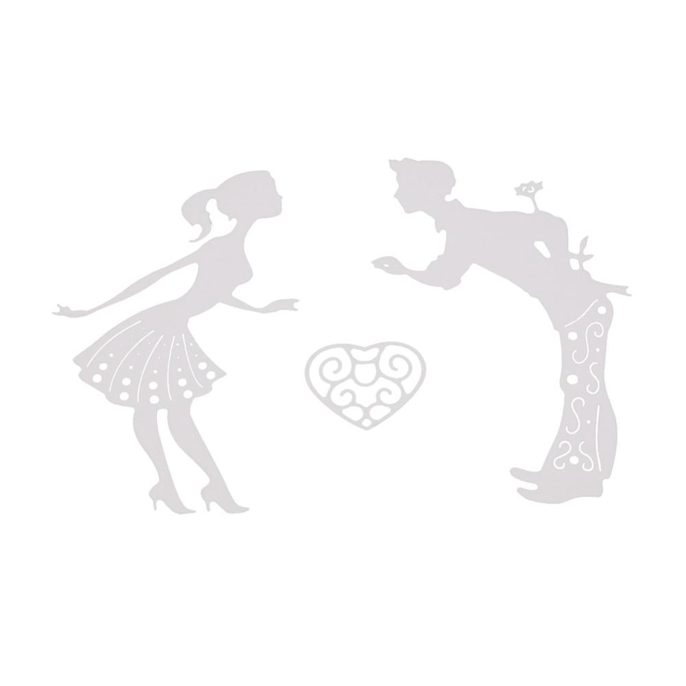 Bifujian love man kiss women Matel Cutting Die Crafts Embossing Scrapbooking Die Carbon Cut Paper Card Stencil For Albums Decor