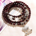 Wholesale Price Natural Garnet Stone Crystal Bracelet Fashion Jewelry New Style Alloy Accossories Women's Bracelet Free shipping