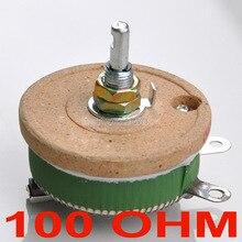 Мощный проволочный потенциометр 50 Вт 100 Ом, реостат, переменный резистор, 50 Вт.