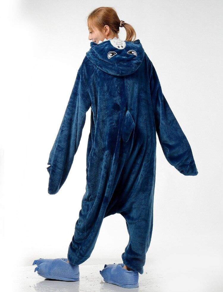 Cute Blue Shark Kengurumi Onesie Adult Pyjamas Animal Womens Pajamas Pijama Pijamas Pyjama Sleepwear For Men Women Couples