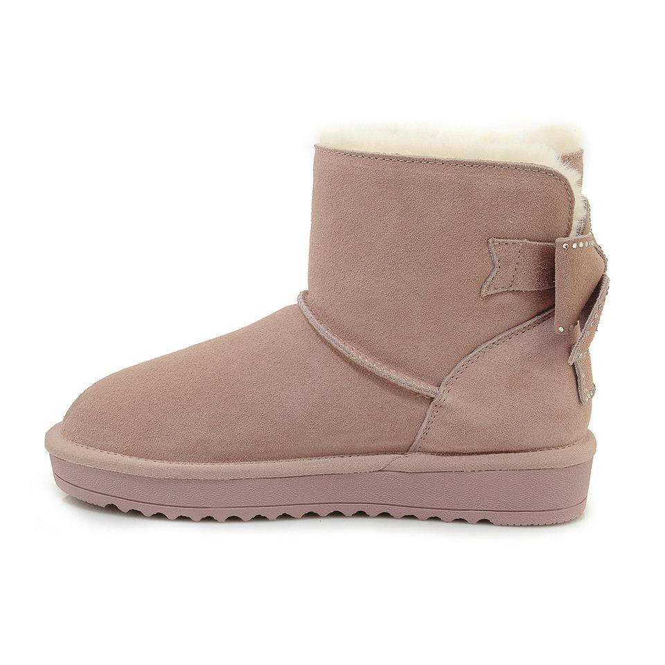 Cheville Chaussures Eshtonshero Chaud Casual Femmes Dames Gris Au Garder 4 9 Plat D'hiver rose Talons Fourrure Taille Noir Nouveautés En Peluche De Neige Bottes gris q35ARj4L