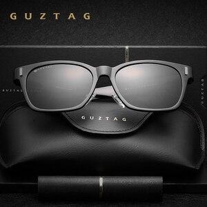 Image 5 - Guztag Zonnebril Aluminium Vierkante Mannen/Vrouwen Gepolariseerde Spiegel UV400 Zonnebril Eyewear Zonnebril Voor Mannen Óculos De Sol G9260