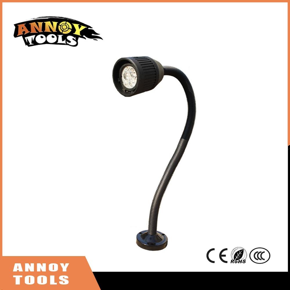 LED 3W 24V/36V/110V/220V 500mm Machine Work Lights LED Soft Rod Flexible Light Bar Tube Lathe Lamp LED Machine Work Lamp short arm machine tool lamp work lamp 24v 12v 36v 220v 50w halogen lamp